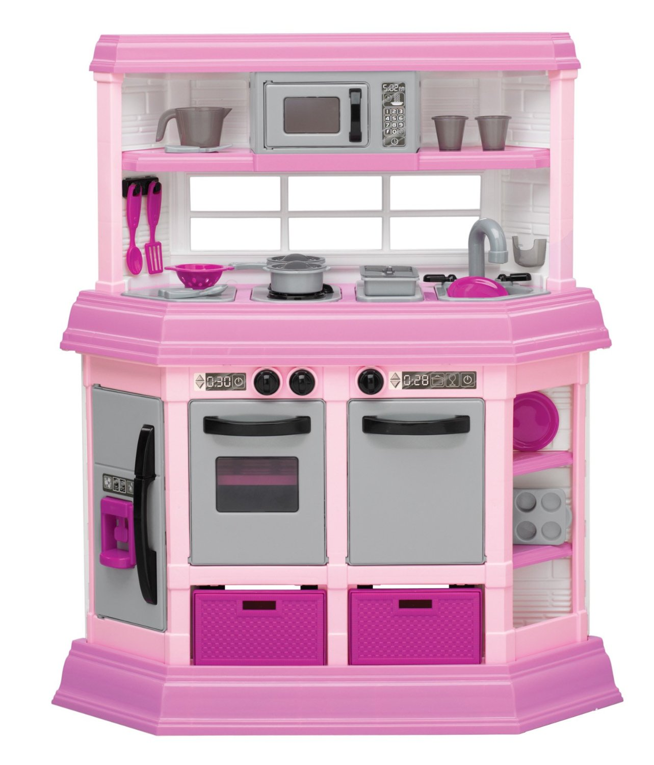 American plastic toy deluxe custom kitchen review for Toy kitchen set