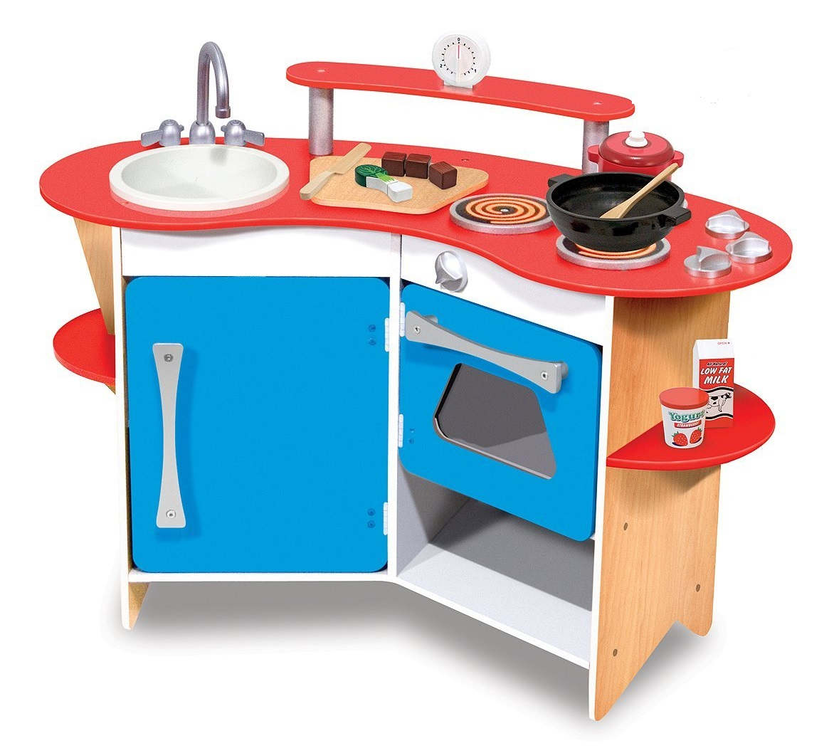 Melissa Doug Cook 39 S Corner Wooden Kitchen Review