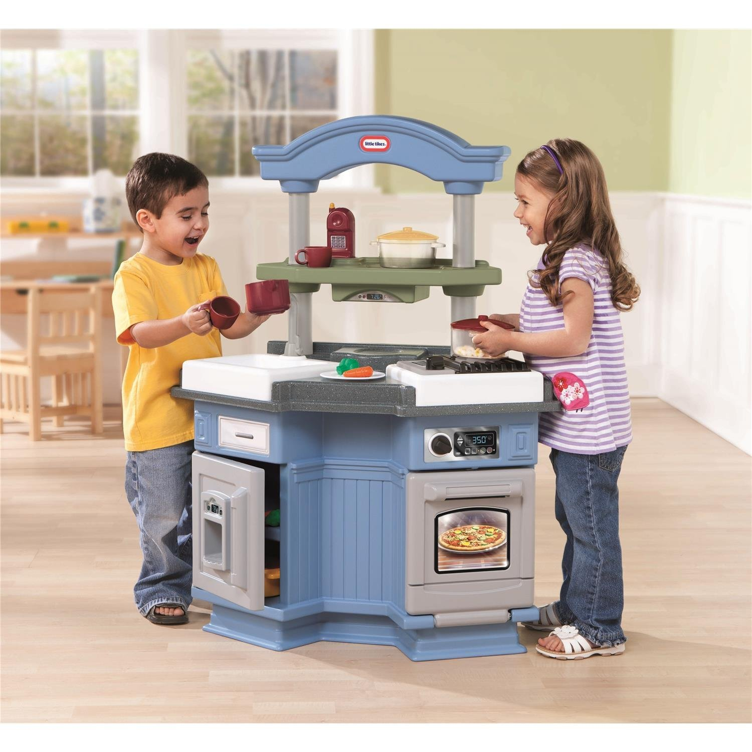 Little Tikes Kitchen. The Kitchen Itself Features Two