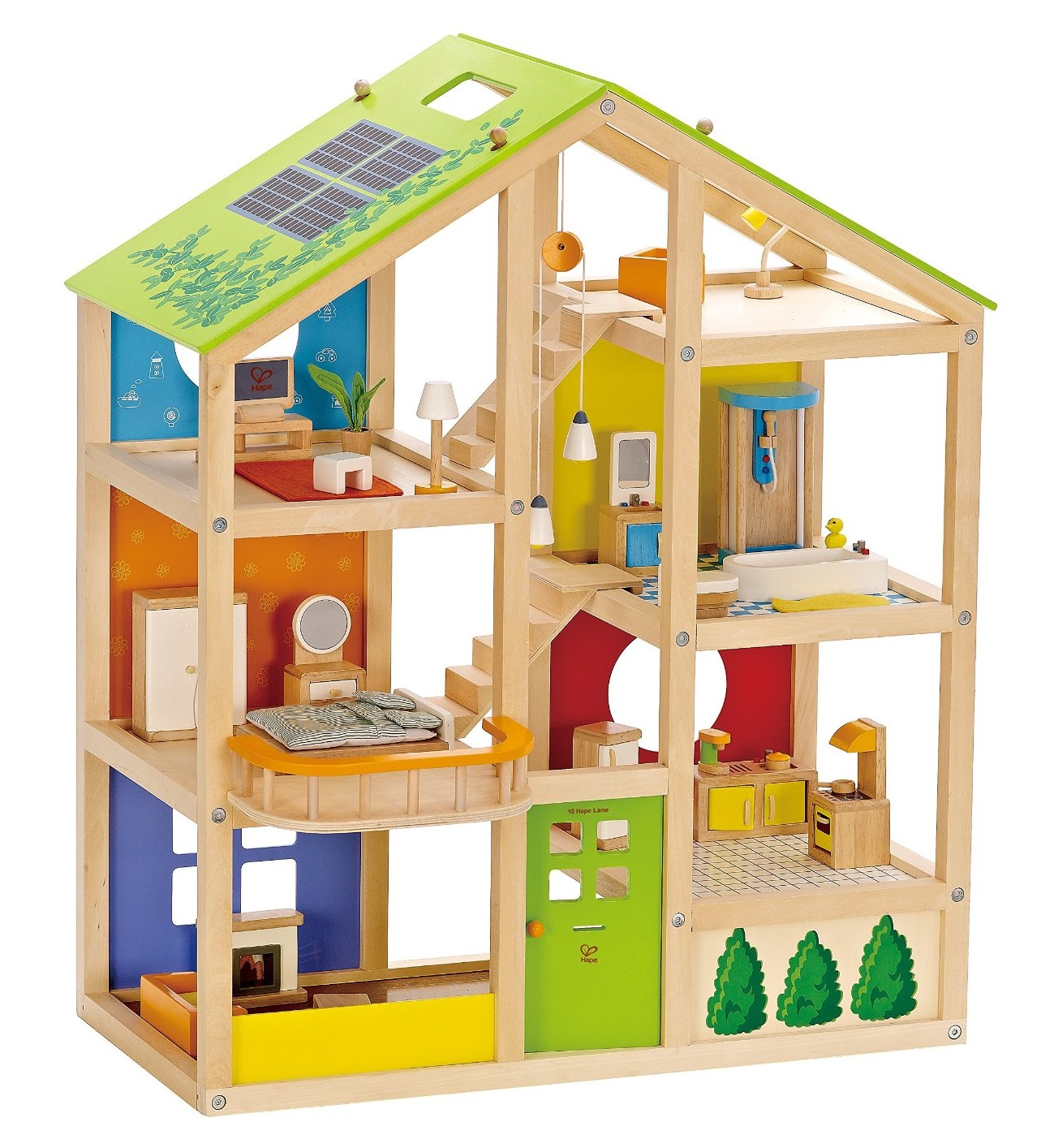 best wooden dollhouse 3 selected models. Black Bedroom Furniture Sets. Home Design Ideas