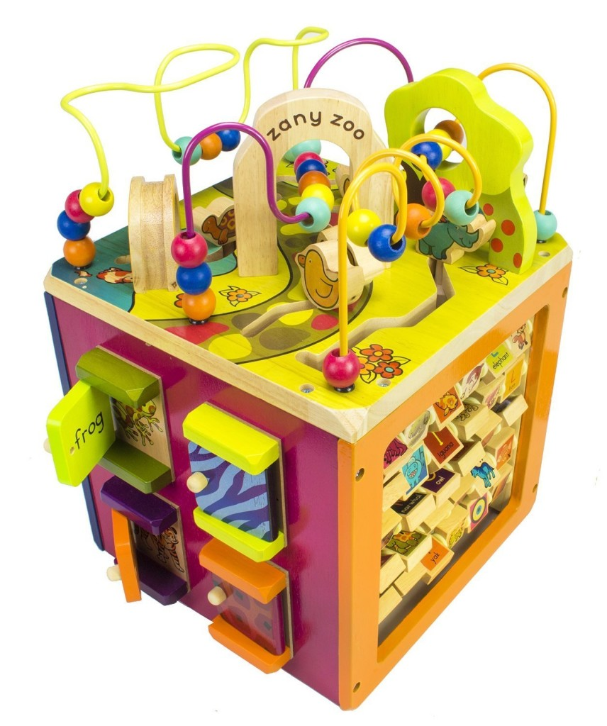 B Zaby Zoo Wooden Activity Cube