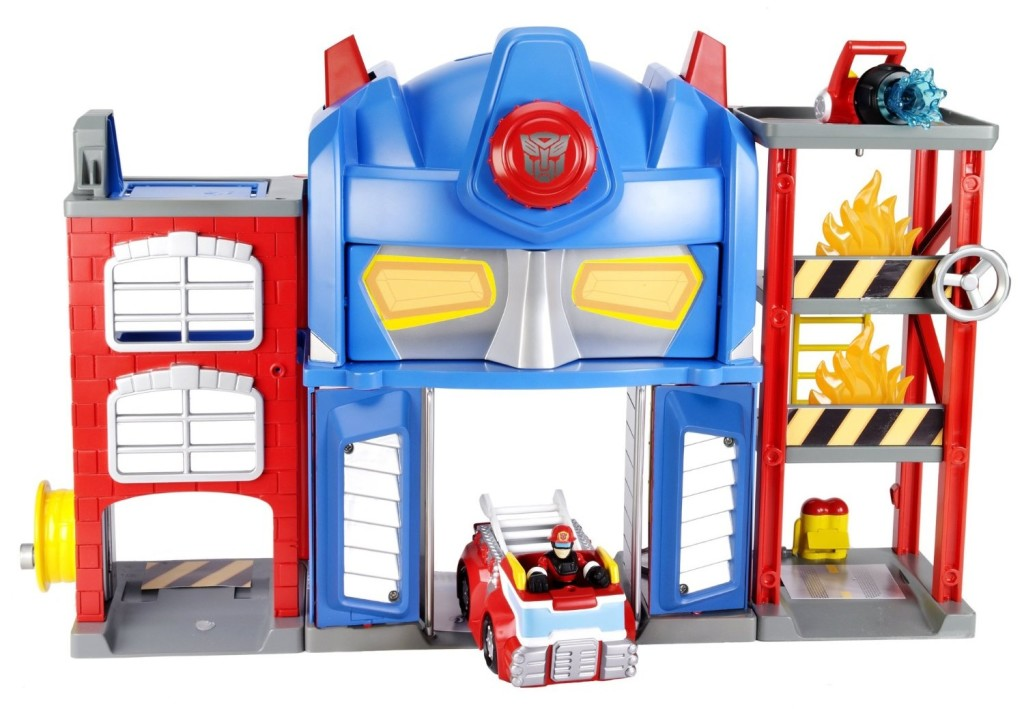 Transformers Rescue Bots Playskool Heroes Fire Station Prime