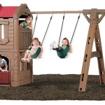 Playhouse With Swing And Slide